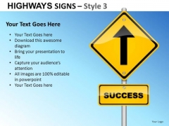 Healthy Highway Signs 3 PowerPoint Slides And Ppt Diagram Templates