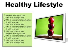 Healthy Lifestyle Food PowerPoint Presentation Slides F