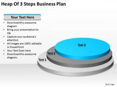 Heap Of 3 Steps Business Plan Ppt Help With PowerPoint Templates