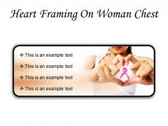 Heart Framing Woman Health PowerPoint Presentation Slides R