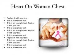 Heart Framing Woman Health PowerPoint Presentation Slides S
