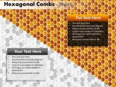 Hexagon Honeycomb Surface Ppt Templates Editable PowerPoint Slides