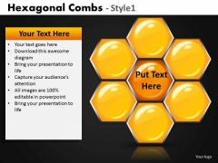 Hexagon Structure PowerPoint Templates Honey Comb Ppt Slides