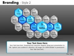 Hexagon Text Boxes Process Flow PowerPoint Slides Ppt Templates