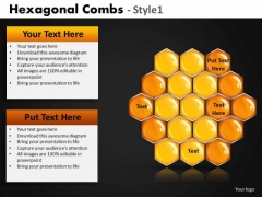 Hexagonal Comb PowerPoint Templates And Honey Comb Ppt Slides