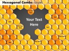 Hexagonal Combs Ppt Slide