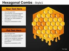 Hexagonal Honey Comb Concept PowerPoint Templates Editable Ppt Slides