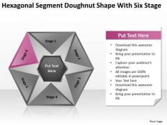 Hexagonal Sagment Doughnut Shape With Six Stage Ppt Business Plan PowerPoint Templates