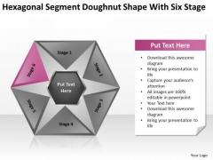Hexagonal Sagment Doughnut Shape With Six Stage Ppt Business Plan PowerPoint Templates