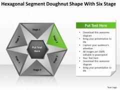 Hexagonal Sagment Doughnut Shape With Six Stage Ppt Business Start Up Plan PowerPoint Slides