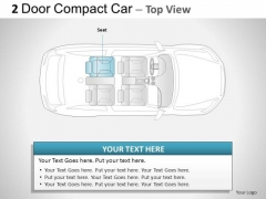 Highway 2 Door Gray Car Top PowerPoint Slides And Ppt Diagram Templates