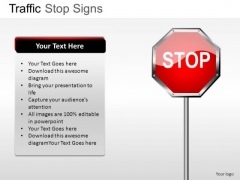Highway Icon Traffic Stop PowerPoint Slides And Ppt Diagram Templates