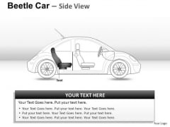 Highway Red Beetle Car PowerPoint Slides And Ppt Diagram Templates