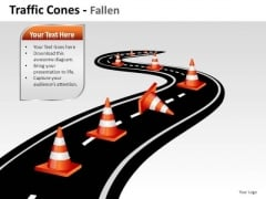 Highway Traffic Cones PowerPoint Slides And Ppt Diagram Templates