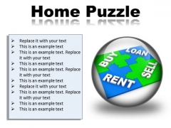 Home Puzzle Real Estate PowerPoint Presentation Slides C