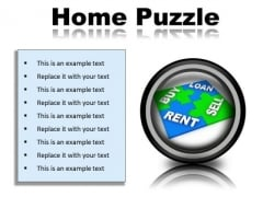 Home Puzzle Real Estate PowerPoint Presentation Slides Cc