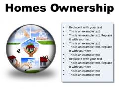 Homes Ownership Real Estate PowerPoint Presentation Slides C