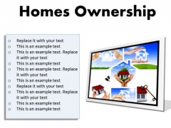 Homes Ownership Real Estate PowerPoint Presentation Slides F