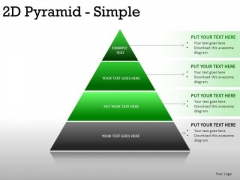 Horizon 2d Pyramid Simple PowerPoint Slides And Ppt Diagram Templates