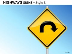Horizon Journey Highways Signs 3 PowerPoint Slides And Ppt Diagram Templates
