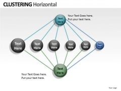 Horizontal Clustering PowerPoint Slides And Ppt Network Diagrams