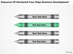 Horizontal Four Steps Business Development Ppt Plan For PowerPoint Templates