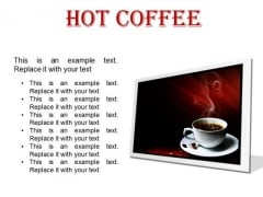 Hot Coffee Food PowerPoint Presentation Slides F