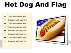 Hot Dog And Flag Food PowerPoint Presentation Slides F