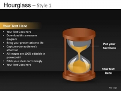 Hourglass Clipart Slides Editable PowerPoint