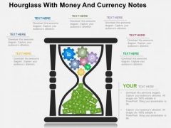 Hourglass With Money And Currency Notes PowerPoint Templates