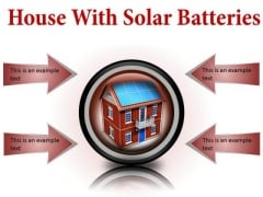 House With Solar Batteries Technology PowerPoint Presentation Slides Cc