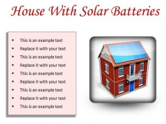 House With Solar Batteries Technology PowerPoint Presentation Slides S