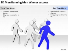 How To Draw Business Process Diagram 3d Men Running Winner Success PowerPoint Templates