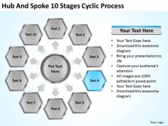 Hub And Spoke 10 Stages Cyclic Process Business Plan Examples PowerPoint Slides