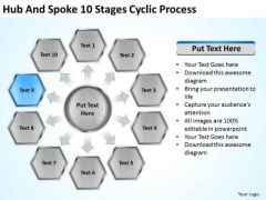 Hub And Spoke 10 Stages Cyclic Process Business Plan Forms PowerPoint Templates