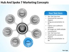Hub And Spoke 7 Marketing Concepts Standard Business Plan PowerPoint Templates
