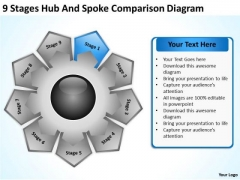 Hub And Spoke Comparison Diagram Examples Of Business Plan PowerPoint Templates