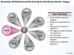 Hub And Spoke Distribution Model 7 Stages Landscape Business Plan PowerPoint Slides