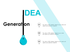 IDEA Generation Innovation Ppt PowerPoint Presentation Ideas Images