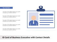 ID Card Of Business Executive With Contact Details Ppt PowerPoint Presentation Example 2015 PDF