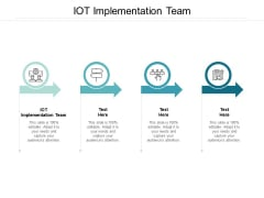 IOT Implementation Team Ppt PowerPoint Presentation Gallery Background Cpb