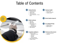 IOT Industry Assessment Table Of Contents Ppt Infographic Template Templates PDF