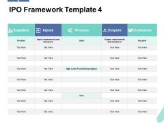 IPO Framework Customers Ppt PowerPoint Presentation Portfolio Good