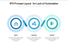 IPO Process Layout For Lack Of Automation Ppt PowerPoint Presentation Slides Gallery PDF