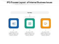 IPO Process Layout Of Internal Business Issues Ppt PowerPoint Presentation Summary Layout Ideas PDF