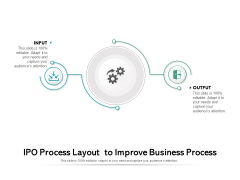 IPO Process Layout To Improve Business Process Ppt PowerPoint Presentation Slides Vector PDF