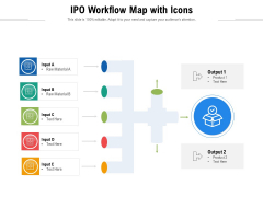 IPO Workflow Map With Icons Ppt PowerPoint Presentation Icon Show PDF