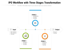 IPO Workflow With Three Stages Transformation Ppt PowerPoint Presentation File Infographic Template PDF
