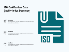 ISO Certification Data Quality Index Document Ppt PowerPoint Presentation Outline Mockup PDF