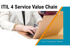 ITIL 4 Service Value Chain Financial Services Corporate Ppt PowerPoint Presentation Complete Deck